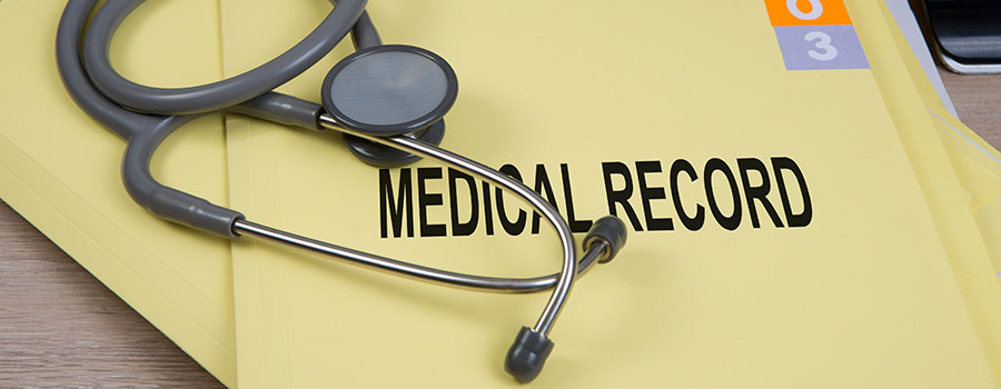Medical Records folder with a Stethoscope